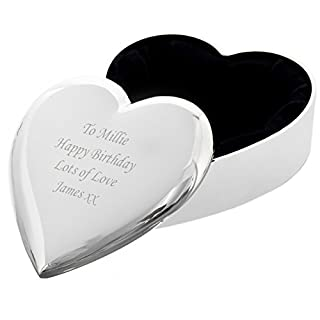 Personalised Traditionally Engraved Heart Trinket - FREE ENGRAVING - Perfect for Christmas, Gift, For Her, Wedding