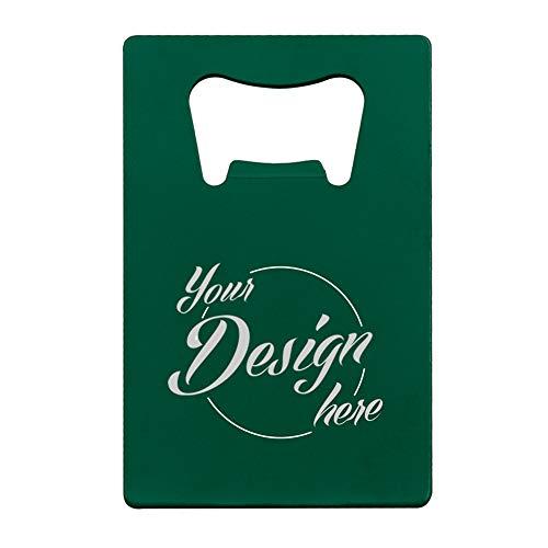 aspire Personalisierter Flaschenöffner aus Edelstahl für Bars, Hochzeiten, Partys, Gastgeschenke, grün, Einheitsgröße