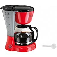 Domoclip DOM163RN Cafetière Électectrique  Bicolore Rouge/noir 1,2 Litre, 800