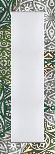 Pared-de-piso-de-espejo-con-facetas-de-25-mm-de-filo-decorativo-Modelo-de-marco-Impresin-Digital-Artland-Jule-estilo-marroqu--verde-tamao-1404-X-504-x-16-cm