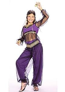 Filles violet Costume Princesse de Harem Medium 5-7 years