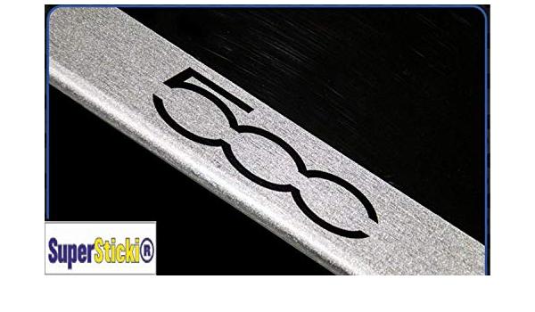 Supersticki Fiat 500 Carbon Carbonfolie Carbon Aufkleber Folie Optic Einstiegsleisten Set 1tür Logo Farbauswahl Rennsport Racing Tuning Auto