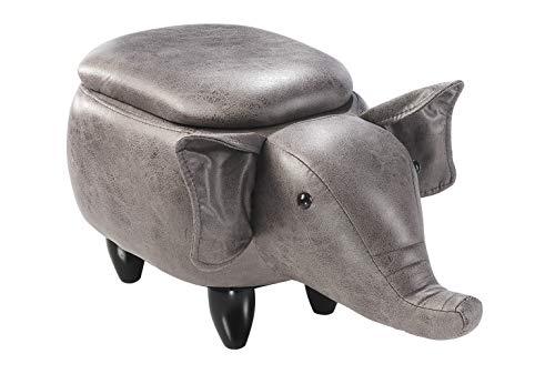Kobolo Tierhocker Kinderhocker Hocker Elephant im Elefanten-Design mit Staufach