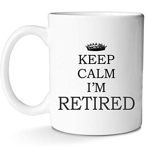 Mugish Tasse für Ruhestand, lustiges Geschenk für Rentner, Frauen, Paare, Lehrer, Armee, Tierarzt mit Prime, 312 ml (Geschenke Lehrer Ruhestand)