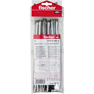 Fischer Fensterrahmendübel F 10 M 202 B SB-Karte, Inhalt: 6 x Metallrahmendübel, 6 x Abdeckkappe weiß/dunkelbraun, 049148