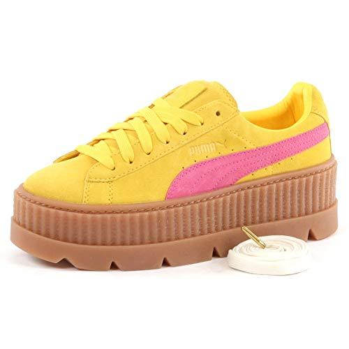 Puma Damen Sneakers Cleated Creeper Suede gelb (31) 38