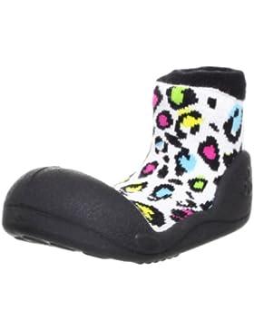 Attipas Animal Black - ergonomische Baby Lauflernschuhe, atmungsaktive Kinder Hausschuhe ABS Socken Babyschuhe...