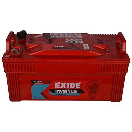Exide Inva Plus Plastic and Lead Acid 180Ah/12V Battery (Red)
