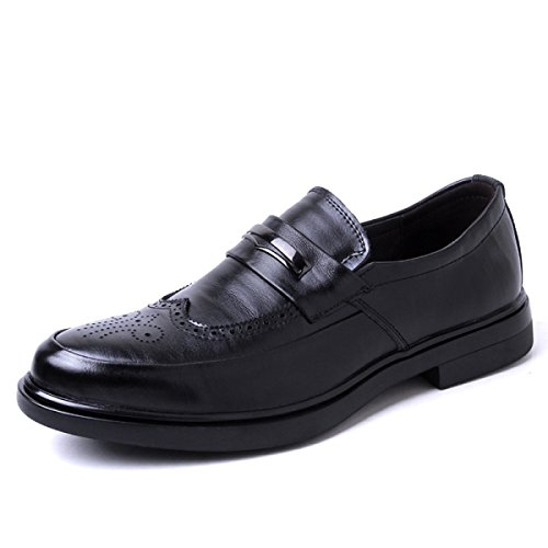LYZGF Uomini Adulto Business Formale Scarpe Di Cuoio Trend Round Toe Black