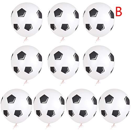 FADACAI Latex-Fußballballons, Für Kindergeburtstag, Fußballballons, Weltcupballons, 10er-Pack