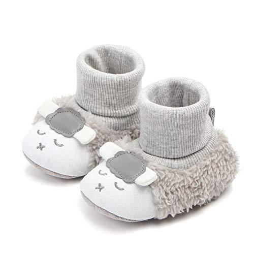 9e839a206a15 Chaussures Bébé Fille Chaussures Bébé Garçon 0-12Mois Anti-Dérapant Hiver  et Automne Bébé