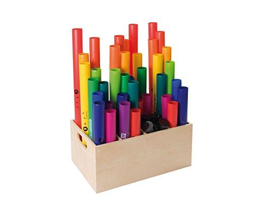 Aufbewahrungsbox Boomwhackers, Zubehör, Holz-Box zur Aufbewahrung, Kinder, Gruppen, Musik-Schule