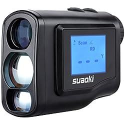 suaoki 600M Handheld Laser telémetro para el Deporte de golf y la Caza, con LCD externo, Negro 2.40 wattsW, 3.00 voltsV