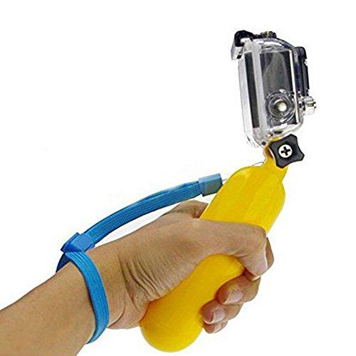 Hosaire 1x Schwimmender Handgriff Premium Gelb Handstock Griff Handgelenkschlaufe für Gopro Hero Kamera 1 2 3