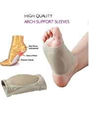 Purastep Unisex Flat Arch Support Pad Socks for Foot Pain Relief, Free Size - 1 Pair