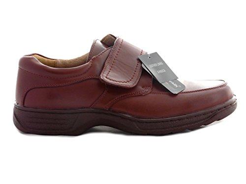 Chaussures Pour Hommes, Doublure En Cuir, Léger Et Confortable, À Lacets, Mocassins Et Velcro - Velcro Marron Large