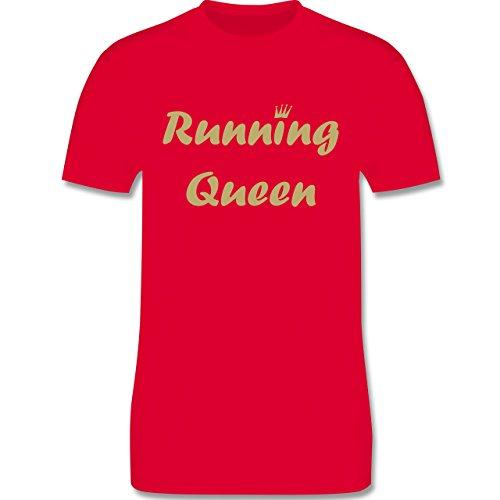 Laufsport - Running Queen - Herren Premium T-Shirt Rot