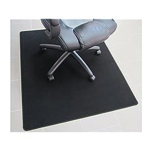 Bürostuhlunterlage, Bodenschutzmatte, Büromatte extrem hochwertig! Velour schwarz. 100x140cm