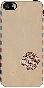 Snoogg Classified stuff Hard Back Case Cover Shield ForApple Iphone 5 / 5s