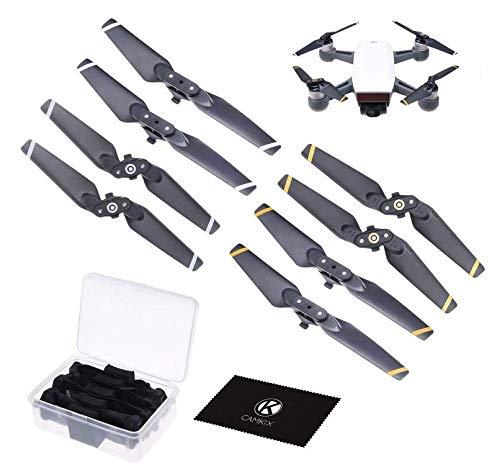 CamKix Propeller Kompatibel mit DJI Spark - 2 Sets (8 Blätter) - Mit praktischer Aufbewahrungsbox - Quick Release zusammenklappbare Flügel - Fluggetestetes Design - Unverzichtbares Accessoire