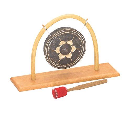 Gong Support avec 15en rotin Thai gong