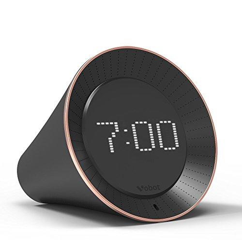Vobot Intelligenter Wecker mit Amazon Alexa Sprachsteuerung, Radio mit LED-Anzeige, 5 Watt Lautsprecher, Timer, Nachrichten, Schlaf-Sound, Wetter, Amazon Musik, iHeartRadio, TuneIn