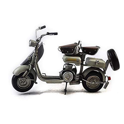 HSDM® Modèle de Moto Militaire Fait Main Vintage en Fer forgé décoration de Moto de la Seconde Guerre Mondiale