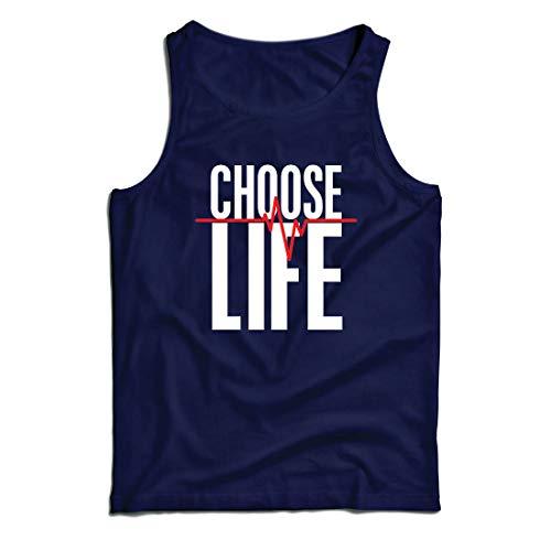 lepni.me Weste Wählen Sie das Leben Herzschlag, Anti-Abtreibung politischen Protest, Christian Zitat (X-Large Blau Mehrfarben)