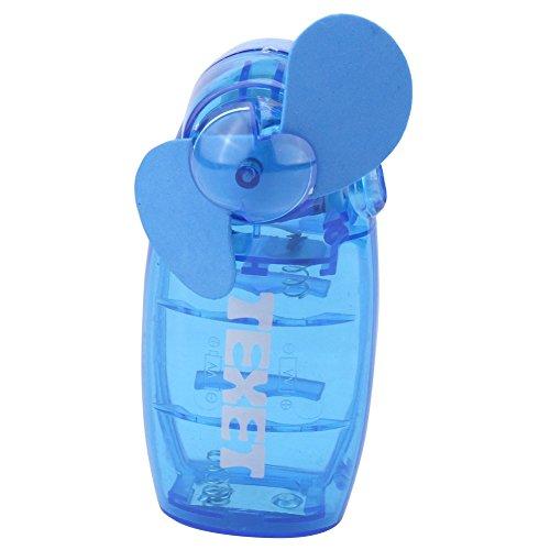 riebener Mini-Hand- und Taschen-Ventilator, blau (Batteriebetriebener Hand-fans)