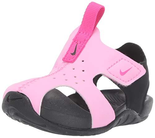 Nike Unisex Baby Sunray Protect 2 (td) Durchgängies Plateau Sandalen, Mehrfarbig (Psychic Pink/Laser Fuchsia/Black 602), 22 EU (Baby Mädchen Nike Für Schuhe)