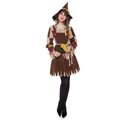 Sttsale Halloween Kostüm Mädchen, Halloween COS Märchen Der Zauberer von Oz Scarecrow Maskerade Cosplay Eltern-Kind-Kostüm,L