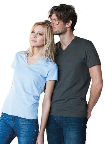 Ladies T-Shirt mit V-Ausschnitt Sky Blue