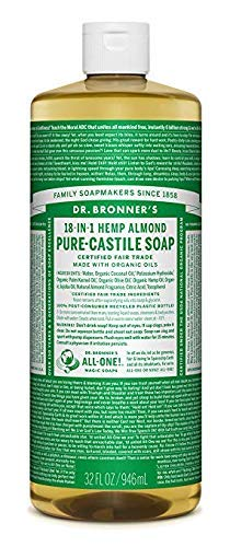 Dr. Bronner Magic Les Savons - Dr Bronners Pure Magic-Castille savon bio Amande 32 oz