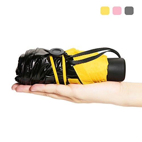 Super mini ombrello,camtoa ultraleggero ombrello,ultra protective [99% uv resistenza & 100% impermeabile] portatile compatto ombrello da pioggia/sole doppia-uso ombrello pieghevole ombrello da viaggio