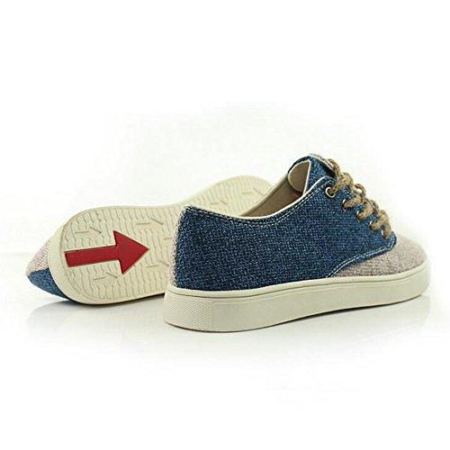 Verão Masculina De Moda Linho Mocassins Azul Alpercatas Casuais Barco Japonês Sapatos Estilo qx1gn8
