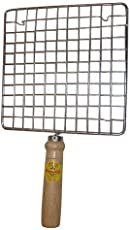 Anne -Kee Barbeque Jali Roti Roast Grill Papad Roaster Chapati Toast Grill Wooden Handle Paneer Tandoor Net