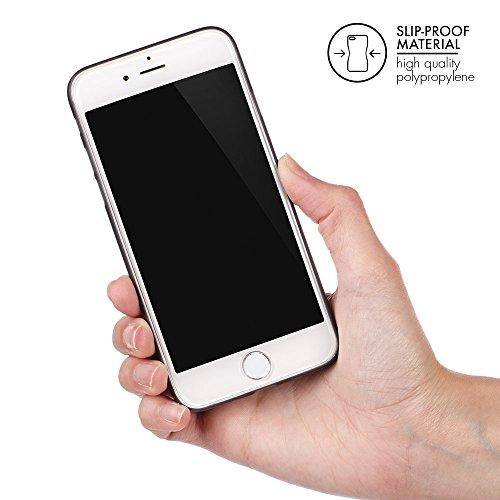 """QUADOCTA iPhone 7 (4,7"""") Ultra Slim Hülle - Schutzhülle - """"Tenuis"""" in Schwarz - Ultra dünnes Case - Leicht transparentes Cover kompatibel mit Apple iPhone7 mit Kameraschutz Set: 1 x Schwarz, 1 x Weiss"""