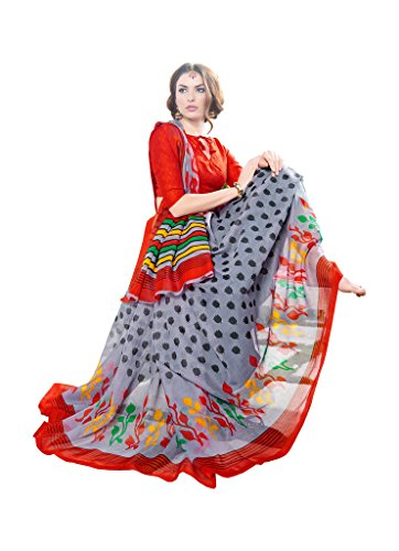 Shree Vardhman Women's Super net Printed Saree  available at amazon for Rs.679