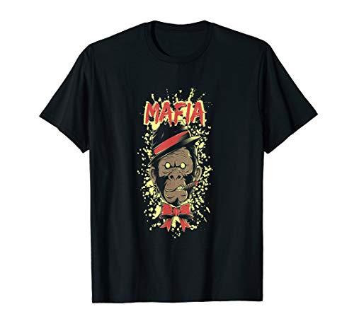 Affen T-shirt  Mafia Kostüm Shirt Halloween Fasching.