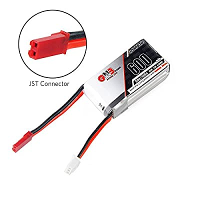 FancyWhoop GNB 600mAh LiPo Battery Pack 2S 7.4V 50C JST Connector for FPV Racing Drone by FancyWhoop