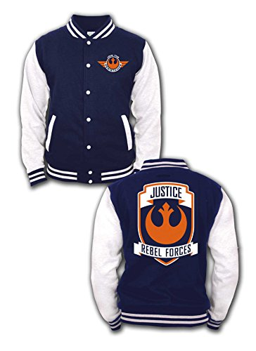Star Wars Episode 7 - The Force Awakens - Rebel Forces College-Jacke navy/weiß S