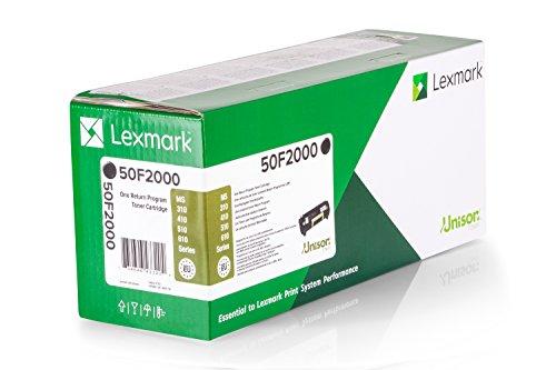 Preisvergleich Produktbild Original Toner passend für Lexmark MS 310 dn Lexmark 502 , NO502 0050F2000 , 050F2000 , 50F2000 - Premium Drucker-Kartusche - Schwarz - 1.500 Seiten
