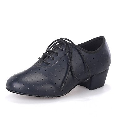Scarpe da ballo-Personalizzabile-Da donna-Balli latino-americani / Jazz / Moderno / Scarpe da swing-Quadrato-Di pelle-Nero / Blu / Rosso Yellow