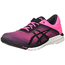 ASICS Women's Fuzex Rush Gymnastics Shoes, Pink (Hot Pink/Black/White 2090), 6 UK 39 EU