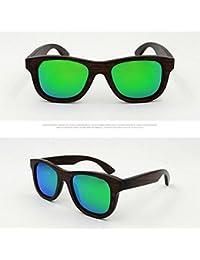 Meijunter Men Women Retro Style Coating Mirrored Bamboo Wood Polarized Sunglasses Lunettes de soleil Goggles