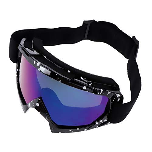 IPOTCH Skibrille Ski Snowboard Brille UV-Schutz Brillenträger Schneebrille Snowboardbrille Motorradbrille für Wintersportarten - Schwarz