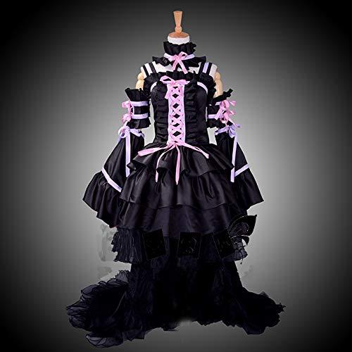 Sunkee Chobits Cosplay Chi Kostüm Gothic Lolita Schwarz Lila Kleid, Größe M ( Alle Größe Sind Wie Beschreibung Gesagt, überprüfen Sie Bitte Die Größentabelle Vor Der Bestellung )
