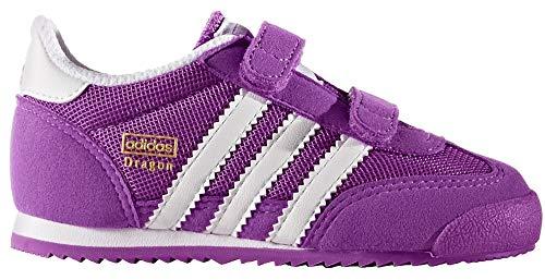 adidas Unisex Baby Dragon CF I Sneaker (25 1/2 EU, Violett (Shock Purple White Shock Purple))