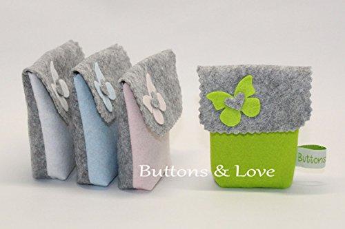 Bustina sacchetto bomboniera porta confetti battesimo comunione o cresima vari colori