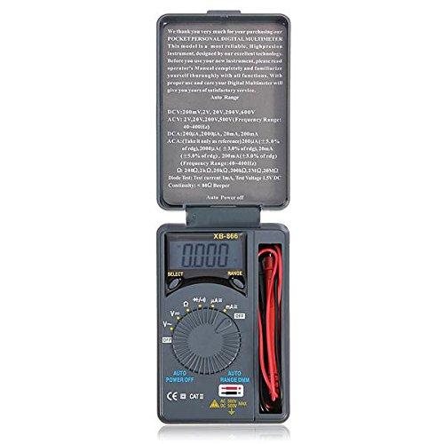 SODIAL(R) Mini multimetro digital de bolsillo AC / DC de rango auto LCD Voltimetro Probador Medidor Nuevo